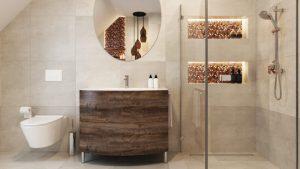 projekty wnętrz łazienki - Proste Wnętrze Kraków