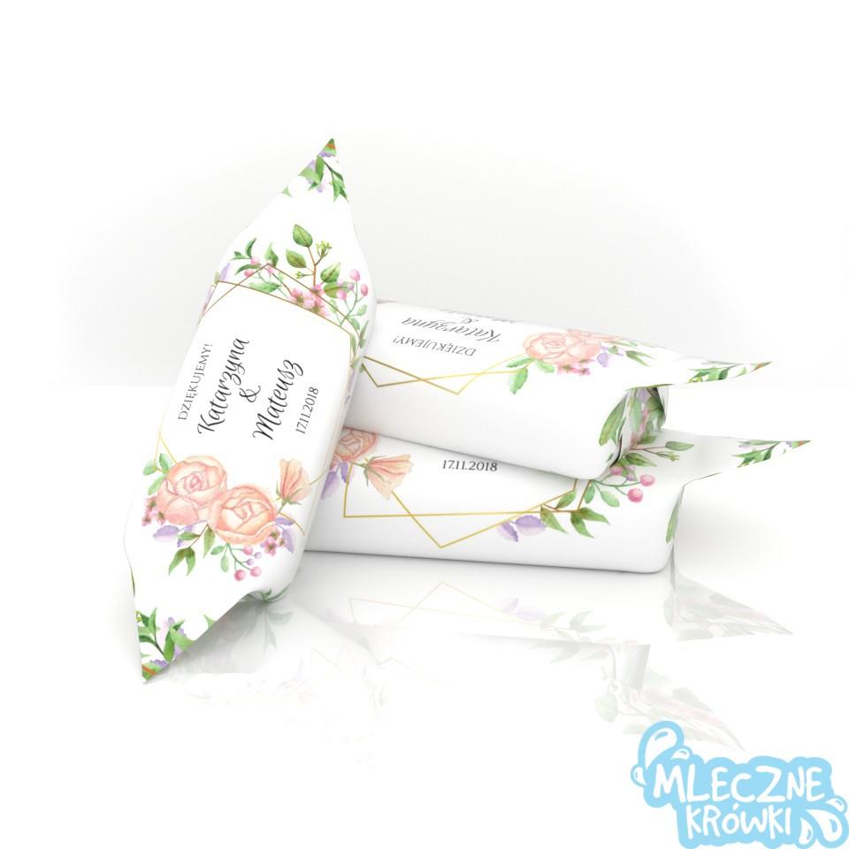 krówki ślubne- podziękowania dla gości weselnych